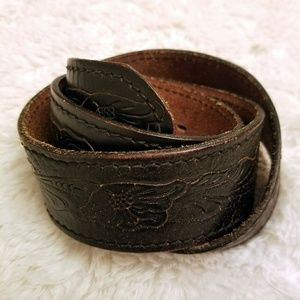 Genuine Leather Black Western Belt No Buckle